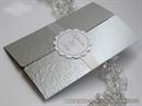 Pozivnica za vjenčanje Silver Sunny Love