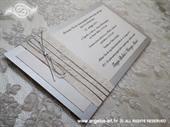 Pozivnica za vjenčanje Harmony Simple Silver