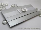 Pozivnica za vjenčanje Silver Elegant Letter