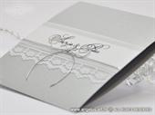 Pozivnica za vjenčanje Glorius Silver Lace