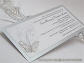 Pozivnica za vjenčanje Leptirov let - silver