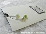 srebrna pozivnica za vjenčanje s perlicama u etui omotnici