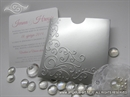 Pozivnica za vjenčanje - Silver Swirl Charm