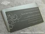 srebrna pozivnica za vjenčanje sa srebrnom kuvertom