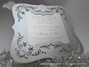 Pozivnica za vjenčanje - Silver Frame Shape - L