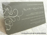 srebrna pozivnica za vjenčanje tamno srebrna