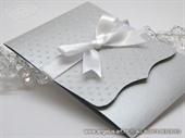 Pozivnica za vjenčanje Silver Dots Classic