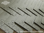 srebrne pozivnice s tiskom i cirkonom skupna slika