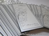 Srebrni menu/jelovnik za svadbenu svečanost