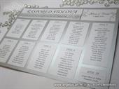 Srebrni raspored sjedenja za svadbenu svečanost