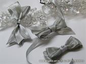 Kitica za rever za vjenčanje - Silver Elegance