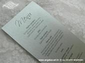 Menu za vjenčanje - Menu Line