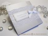 Silver Classic Lace Invitation