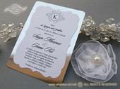 Vintage Silver Line Pozivnica za vjenčanje