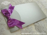 srebrno fuksija pozivnica za vjenčanje zaklopljena