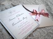 Pozivnica za vjenčanje Silver & Pink Mini Beauty