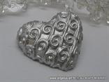 srebrno srce magnet s krivuljama