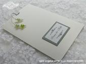 Pozivnica za vjenčanje Silver Green Charm