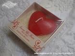 svijeća u kutiji crveno srce konfet za vjenčanje