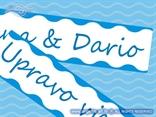 tablice za auto s imenima mladenaca plave