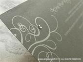 Pozivnica za vjenčanje Dark Silver Line