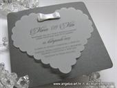 Pozivnica za vjenčanje - Dark Silver Heart