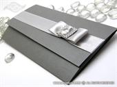 Pozivnica za vjenčanje Dark Silver Letter