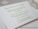 tekst unutar zelene pozivnice za vjenčanje