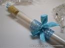 Pozivnica za vjenčanje Epruveta Tirkizna mašnica