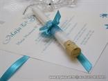 tirkizna pozivnica za vjenčanje u epruveti s tiskom