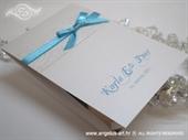 Zahvalnica za vjenčanje Tirkizna & Bijela
