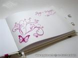 tisak unutar fuksija knjige dojmova za vjenčanje