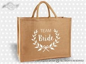 Jutena torba Team Bride