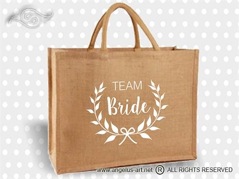 Jutena torba Team Bride