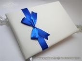 Knjiga gostiju za vjenčanje - Plava mašna