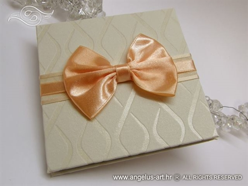 Peach Bow Photo Book