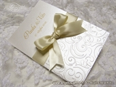 Wedding thank you card - Cream Bow Love