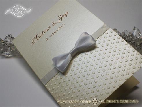 zahvalnica za vjencanje krem bijela sa masnom