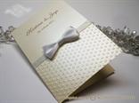 zahvalnica za vjencanje krem bijela