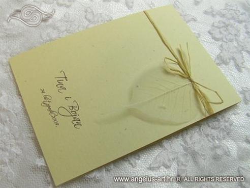 zahvalnica za vjenčanje natural list