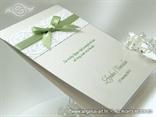 zahvalnica za vjencanje s 3d strukturom i zelenom masnom