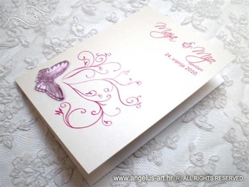 zahvalnica za vjenčanje s ciklama leptirom i tiskom