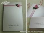 zahvalnica za vjenčanje s ružom i tiskom teksta