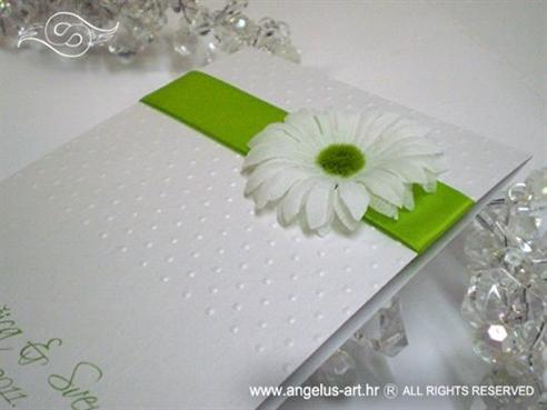 zahvalnica za vjenčanje sa zelenom margaretom i točkicama