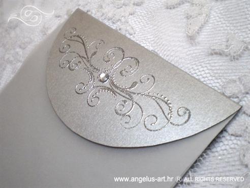 zahvalnica za vjenčanje srebrna s cirkonom i 3D tiskom