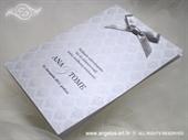 Zahvalnica za vjenčanje Silver Damask