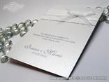 zahvalnica za vjenčanje u bijeloj boji s organdij mašnom