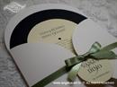 Pozivnica za vjenčanje Green Round Joy