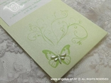 zelena pozivnica detalj leptir