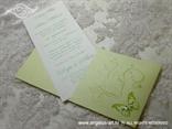 zelena pozivnica na izvlačenje s leptirom